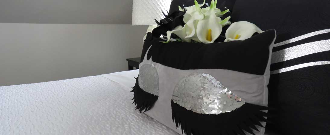 The Loft Bed closeup of pillows