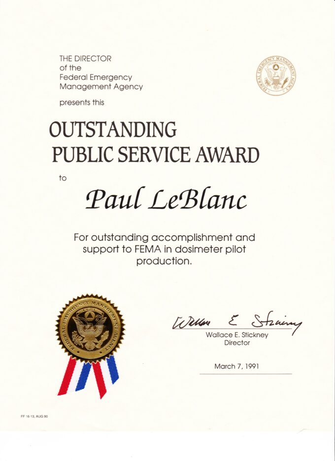 Award from FEMA