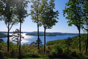 Beaver Lake with pines and lake