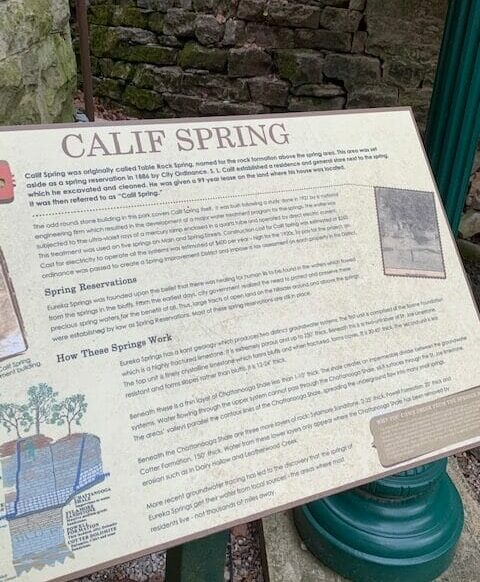sign telling about califf springs