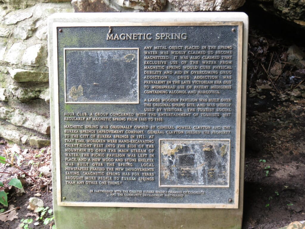 Signage talking about Magnetic spring