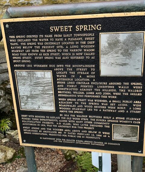 signage for sweet spring